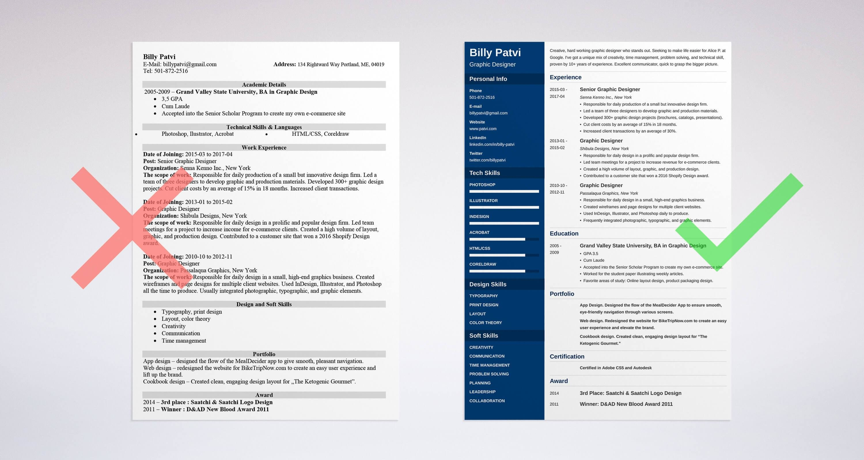 examples of contact information on resume samples