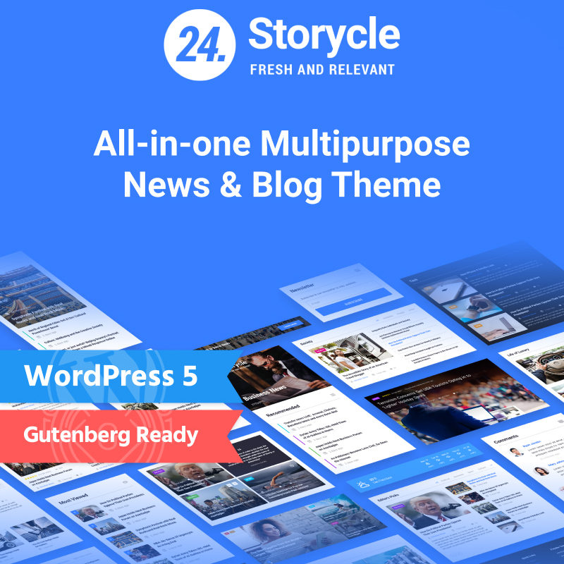 24.Storycle - Многоцелевой Elementor WordPress шаблон